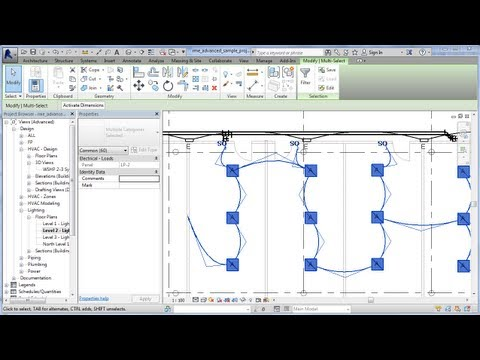 REVIT Electrical Power Lighting Wiring and Circuits