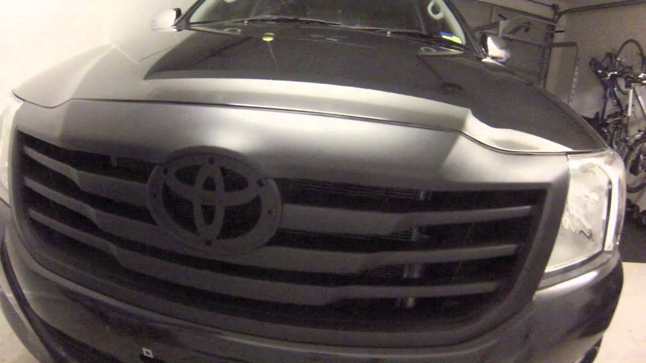 Painting Front Grille Matte Black On The Hilux With Plasti