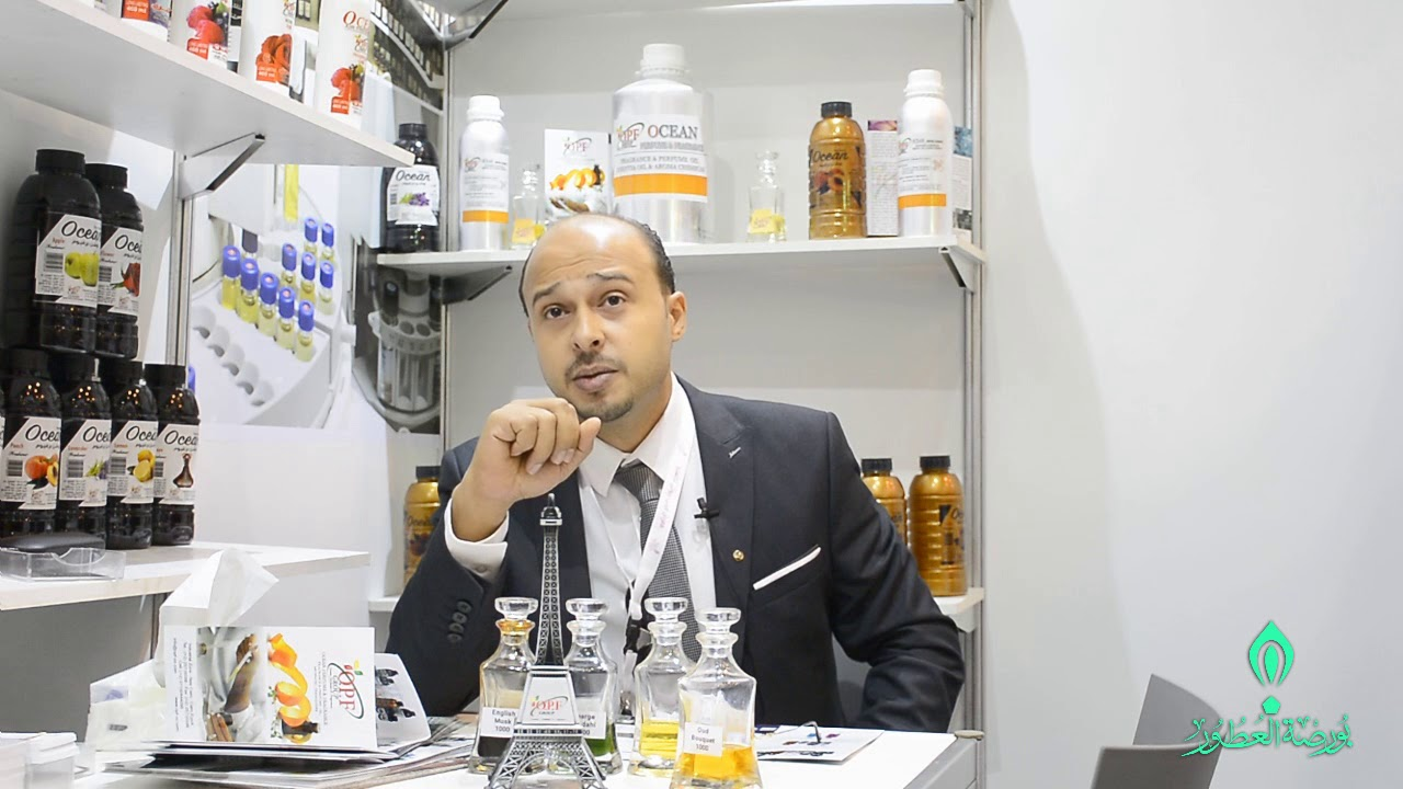 مصطفى الليثي صاحب شركة أوشن برفيوم مع بورصة العطور ومهرجان الأنف الذهبية 2018