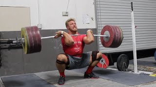 456lbs (207kg) clean and jerk. And respecting women....