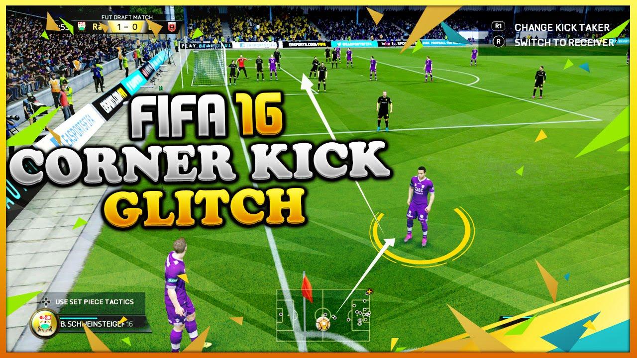 FIFA 16 CORNER KICK GLITCH TUTORIAL - NEW AMAZING TRICK FOR SCORING GOALS -  TIPS & TRICKS