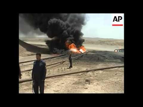 Bomb strikes oil pipeline in northern Iraq