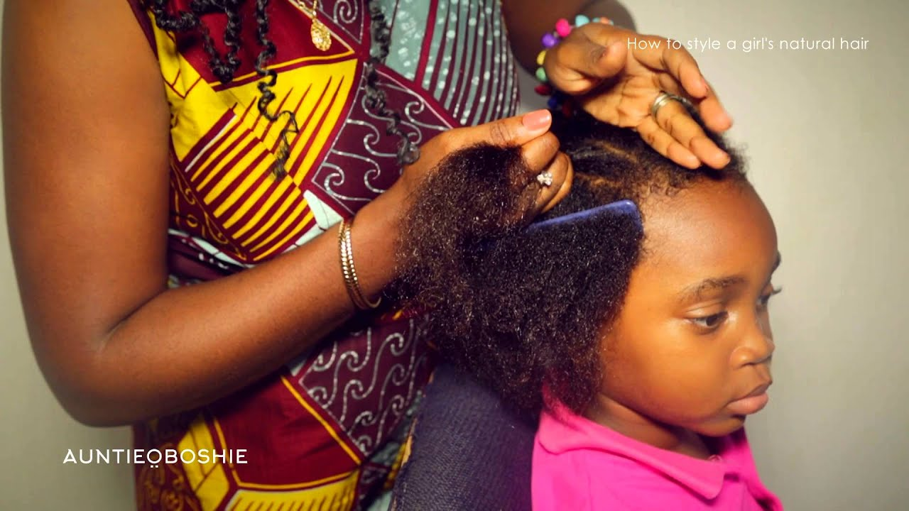 How To Style A Little Girl S Natural Hair Youtube