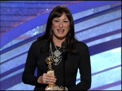 Golden Globes 2005 Angelica Huston Best Supporting Actress TV