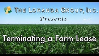 Terminating a Farm Lease