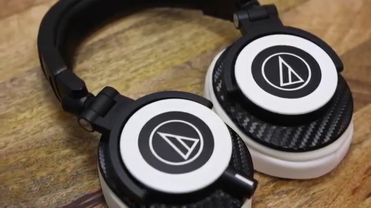 Custom Audio Technica M50x W Dbrand Skins X Brainwavz