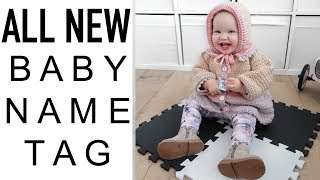 BRAND NEW BABY NAME TAG