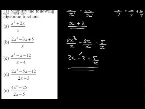 core 2 algebra and functions 1 simplifying fractions polynomials youtube. Black Bedroom Furniture Sets. Home Design Ideas