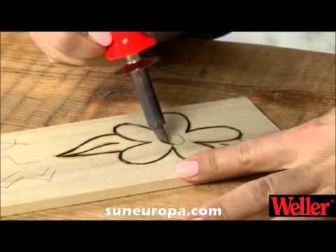 Комплект за гравиране на дърво, 30W / Weller WHK 30 EU / video