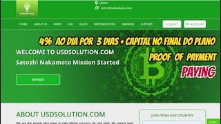 VEJA (USDSOLUTION) PAGANDO  CORRE QUE AINDA DA TEMPO VENHA LUCRAR VOCÊ TAMBÉM - Proof of Payment
