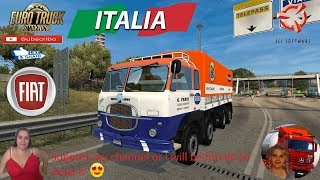 Euro Truck Simulator 2 (1.36)   Old Truck Fiat 690 1.36x + Skin Recoaro bibite DLC Bell'Italia by SCS Software Naturalux Graphics and Weather + DLC's & Mods  Support me please thanks Support me economically at the mail vanelli.isabella@gmail.com  Roadhunt