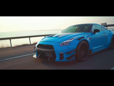 Black Knight GT-R R35 to Baby Blue x Armytrix Exhaust / Liberty Walk / AccuAir Suspension