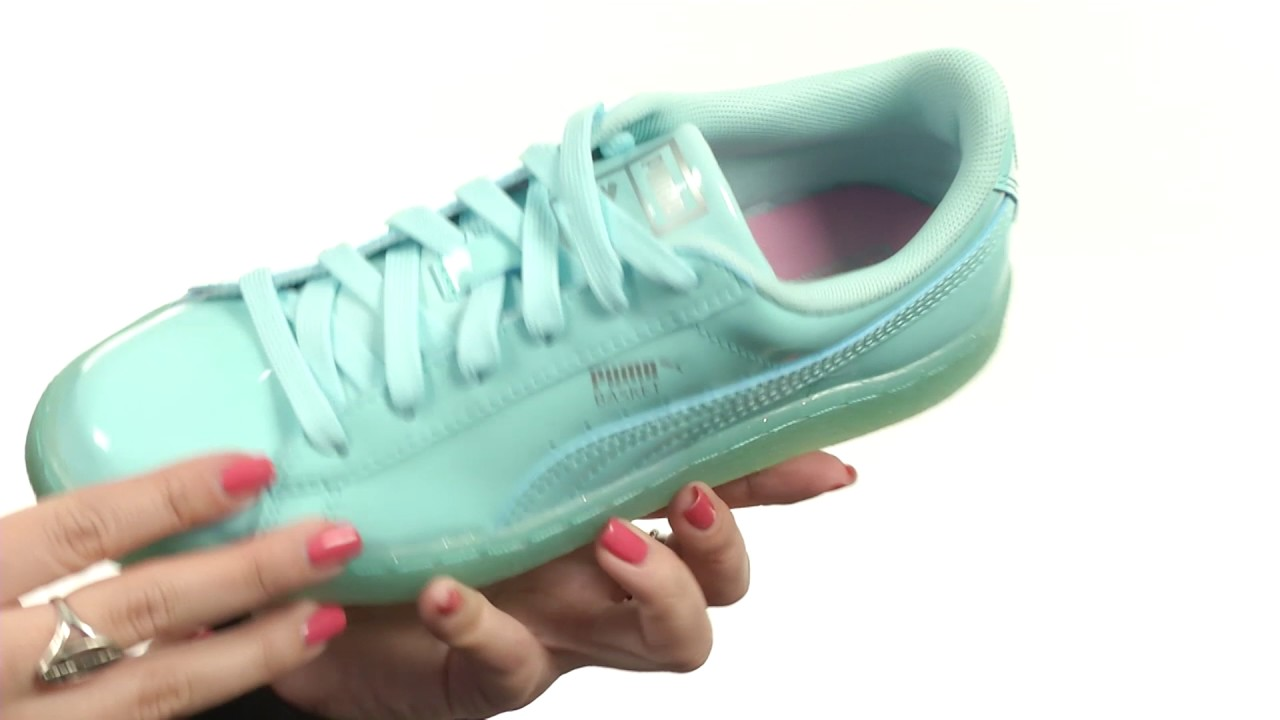 puma basket iced glitter