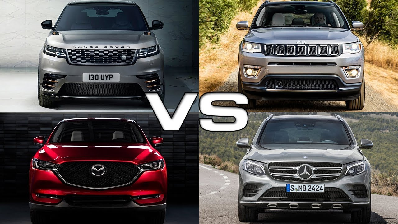 Jeep Compass Vs Jeep Cherokee >> Land Rover Velar vs Jeep Compass vs Mazda CX-5 vs Mercedes GLC - YouTube