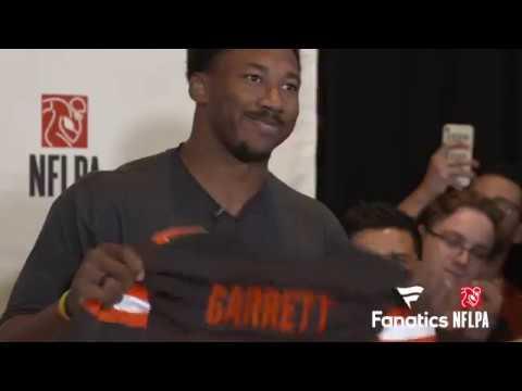 WATCH: #1 Pick Myles Garrett Gets the Call, then Gets the Fanatics Gear