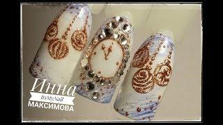 ❄ НОВОГОДНИЕ часы на ногтях ❄ НОВОГОДНИЙ дизайн ❄ Дизайн ногтей гель лаком ❄