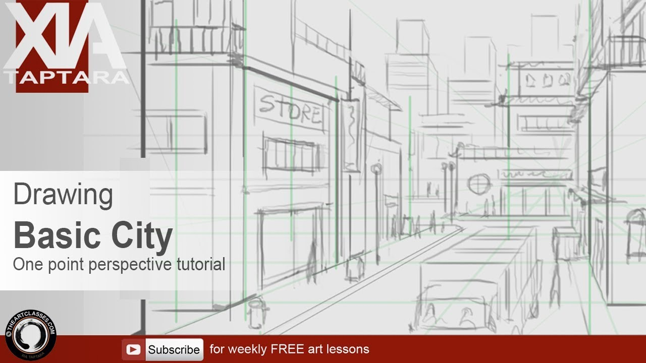 Perspective Drawing Tutorial Basic City Sketch Youtube