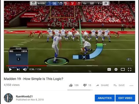 Madden 19 December Patch - I GOT SOMETHING FIXED?!?