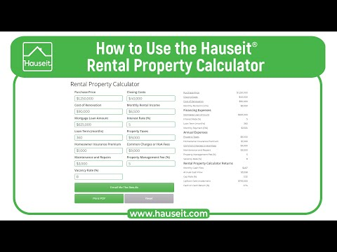 Rental Property Calculator for Real Estate [Interactive
