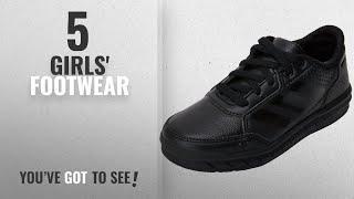 Top 10 Girls' Footwear [2018]: adidas AltaSport CF, Unisex Kids' Low-Top Sneakers, Black (Core