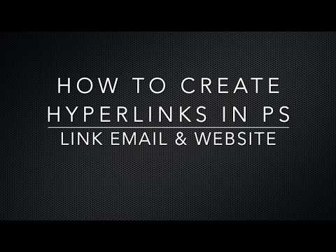 How To Insert Hyperlinks In Photoshop For PDF