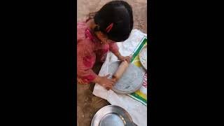 Make Chapati With Grandmother at Old Style and eat. Made for kids hd Quality 360p #kidsVideo
