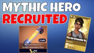 RECRUITING A MYTHIC HERO! | GET EVENT ITEMS BACK! | COLLECTION BOOK UPDATE | Fortnite Save The World