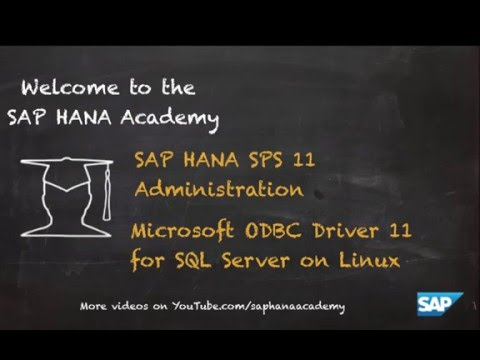 Microsoft ODBC Driver for SQL Server on Linux – by the SAP