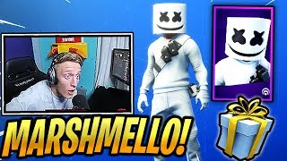TFUE Reacts *NEW* MARSHMELLO Skin & MARSH WALK Emote/Dance! - Fortnite Epic & Funny Moments