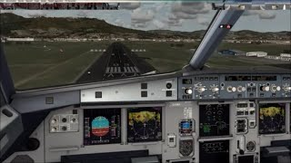 [FSX Full HD] Landing in Florence with the Aerosoft Airbus A319