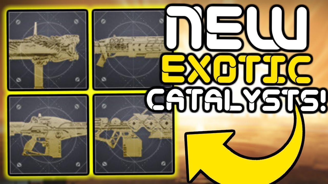 Destiny 2 Legend Of Acrius Catalyst Drop Rate Destiny 2 New Exotic Catalysts And Improved Drop Rates Youtube