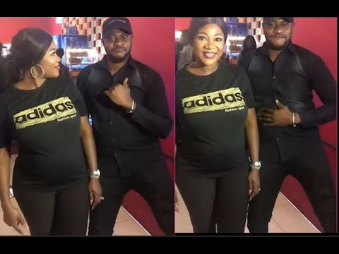 Funny! Odunlade Adekola Dance With Pregnant MercyJohnson At Her Movie Premiere The Legend of Inikpi