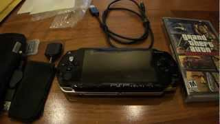 Unboxing the PSP 1000 with an accessory pack