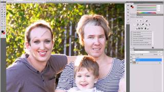 Меняем лица в fotoshop