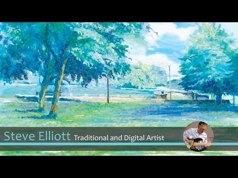 Trying Out Corel Painter Essentials 6 - Painting in an Impressionist style