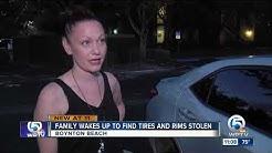 Boynton Beach woman says all four wheels stolen off car