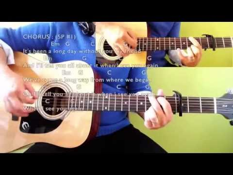 See You Again - Wiz Khalifa ft Charlie Puth - Guitar Chords & Lyrics (Play-Along Cover)