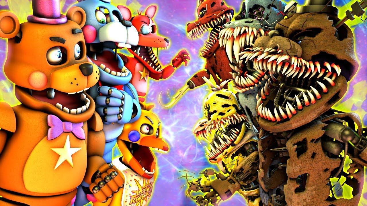 Download [SFM FNaF] Corrupted vs Rockstar
