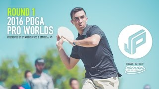 2016 PDGA Pro Worlds Round 1 | McBeth,Bowers,Holmes,Ellis