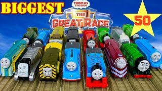 NEW THE BIGGEST! Thomas And Friends THE GREAT RACE #50 TRACKMASTER TOY TRAINS|Blue Mountain Quarry