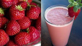 Keventers style STRAWBERRY MILKSHAKE, Fresh Strawberry Milkshake, Strawberry Icecream Milkshake