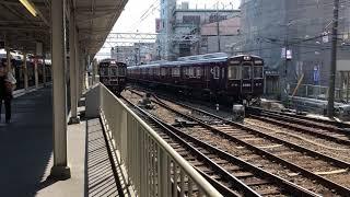阪急電車3305f構内入換&3325f正雀発車