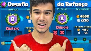 ACHEI O DESAFIO DO REFORÇO FÁCIL ATÉ QUE... - CLASH ROYALE