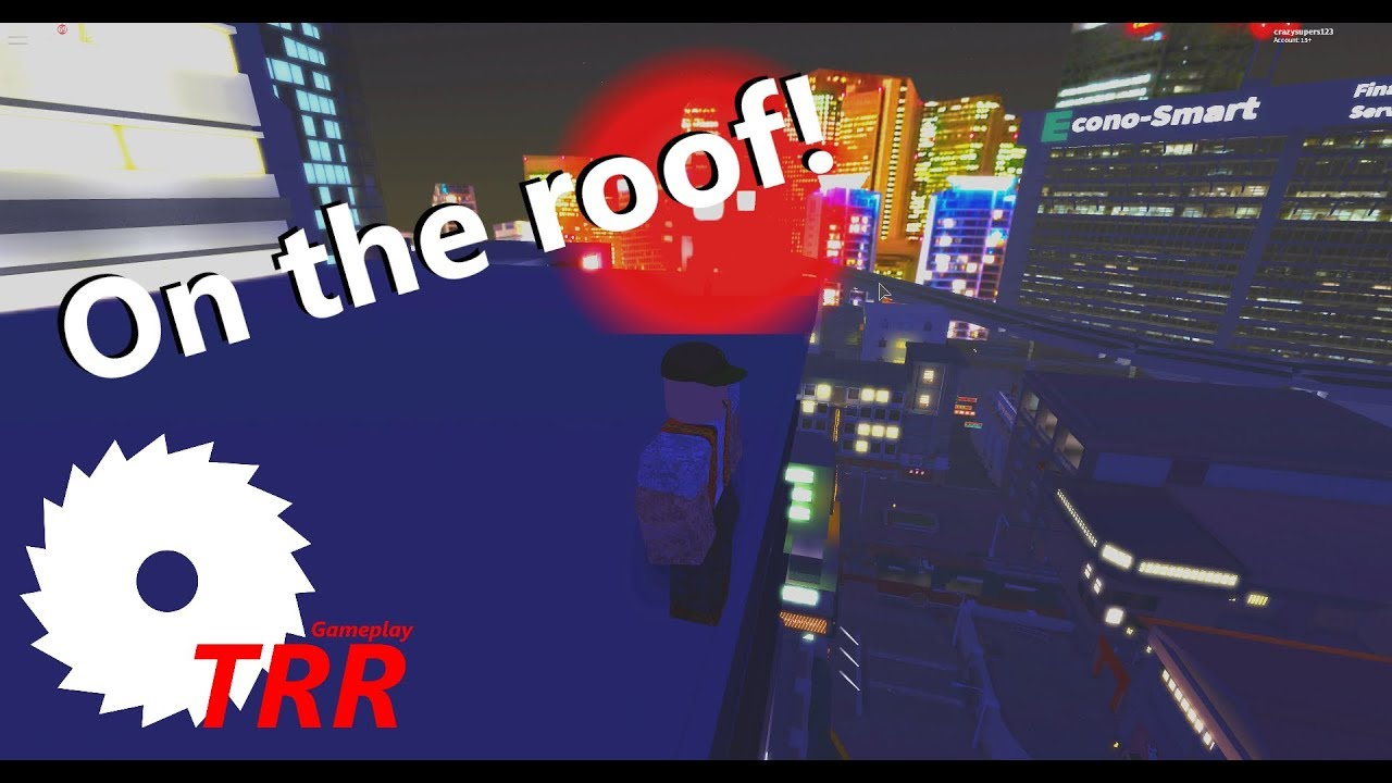 Roblox Neon District Climbing The City Security Building