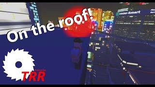 ROBLOX - Neon District - Climbing the City Security building!