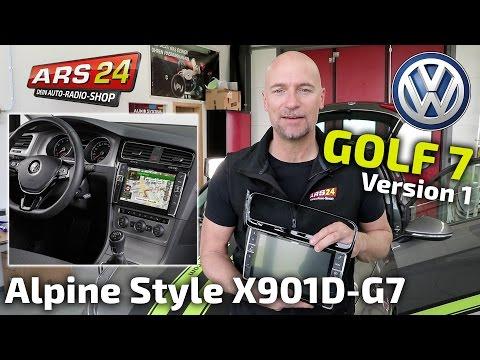 VW Golf 7 mit Alpine X902D-G7A  Autoradio nachrüsten | Tutorial | ARS24