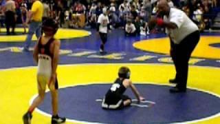 2011 SCWAY CA State Final 63lbs 8 & under: Anthony Juarez(Team Selma) vs Bryant Giger(Jim Cook)