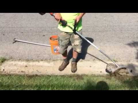 how to use edger on curb