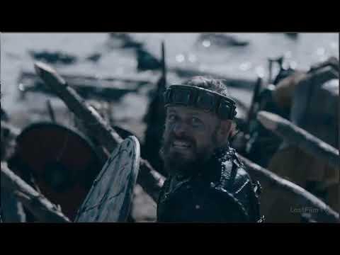 Начало битвы Русичей и Викингов (сериал Викинги)