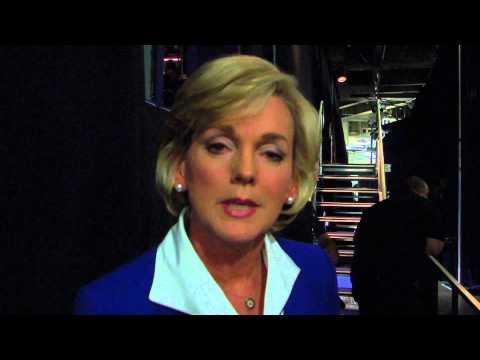 Jennifer Granholm Backstage at 2012 DNC